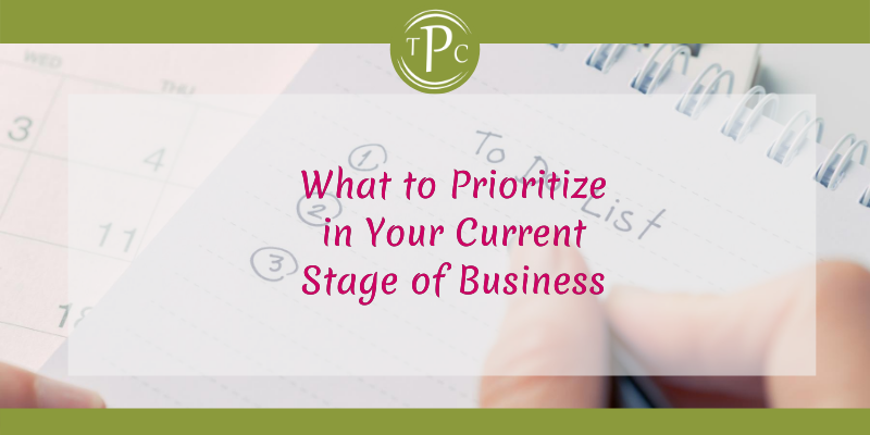 What to Prioritize in Your Current Stage of Business