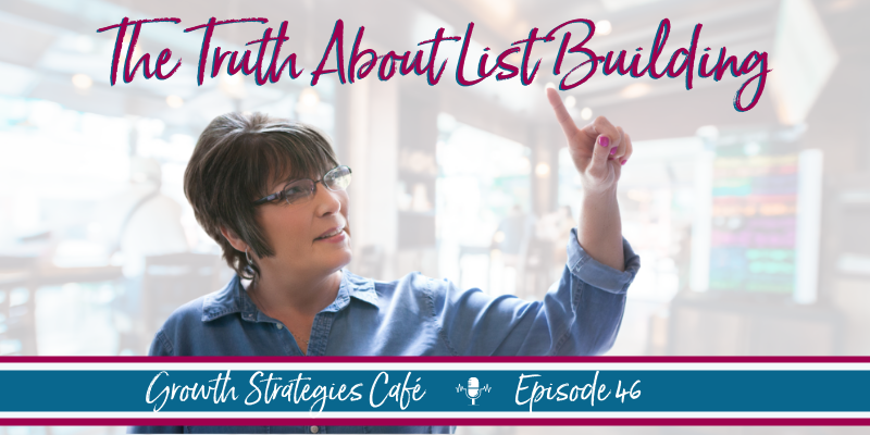 Growth Strategies Café Podcast - The Truth About List Building - Teresa Cleveland
